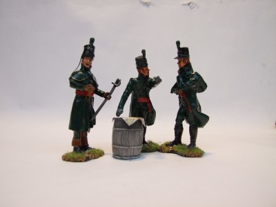 OFFICERS 95th RIFLES MORNING OF WATERLOO