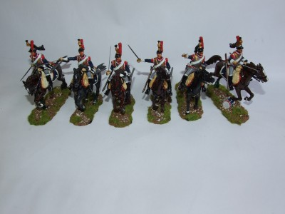 FRENCH CUIRASSIERS SET OF SIX TROOPERS