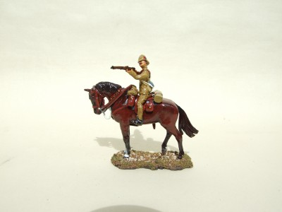 INFANTRYMAN FIRING FROM THE SADDLE