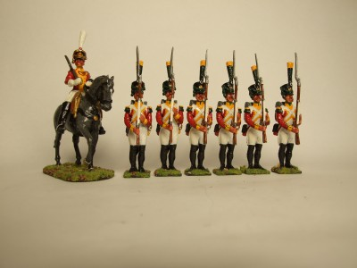 SWISS NAPOLEONIC VOLTIGURES X 6 MOUNTED OFFICER