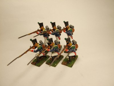FRENCH YOUNG GUARD VOLTIGURES FIRING SET