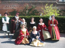 Henry the 8th and his wives at Portsmouth dockyard.