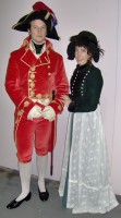 Napoleon first consul costume 1803 and regency lady in Hussard Jacket