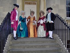 1770''s group on Steps at number 1 Royal Crescent Bath