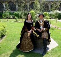 Farthingale portraying young Henry V111 and Anne Boleyn at Gloucester cathedral