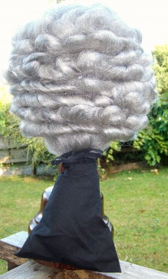3wig Georgian Mans bag wig