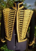Hussar dolman worn open with frogs fastened down, see historical uniforms page for info and pricing.