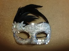 Silver sequinned eye mask