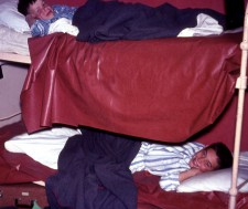 Every boy had a rubber sheet on the bed