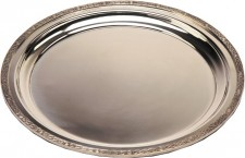 Large Pewter Tray Gadroon (w)