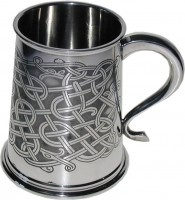 1pt Tankard All Over Celtic Design (w)
