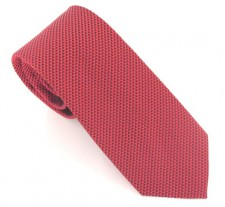 RED LONDON PLAIN SILK TIE