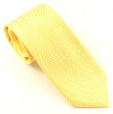 YELLOW LONDON PLAIN SILK TIE