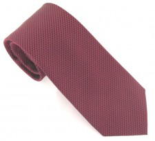 WINE LONDON PLAIN SILK TIE
