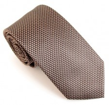 BEIGE LONDON PLAIN SILK TIE