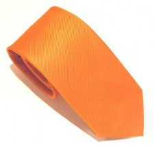 ORANGE RED LABEL PLAIN SILK TIE