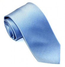 SKY BLUE RED LABEL PLAIN SILK TIE