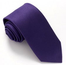 PURPLE RED LABEL PLAIN SILK TIE