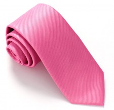 ROSE RED LABEL PLAIN SILK TIE