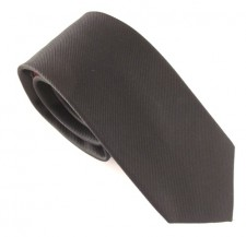 BLACK RED LABEL PLAIN SILK TIE