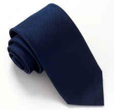 NAVY BLUE RED LABEL PLAIN SILK TIE