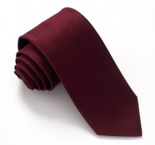 WINE RED LABEL PLAIN SILK TIE