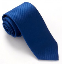 FRENCH BLUE RED LABEL PLAIN SILK TIE