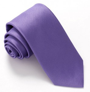 LILAC RED LABEL PLAIN SILK TIE