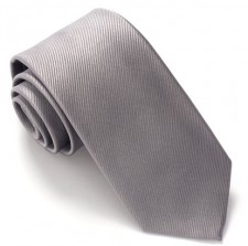 SILVER RED LABEL PLAIN SILK TIE