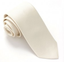 CREAM RED LABEL PLAIN SILK TIE