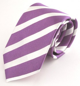 PURPLE/WHITE STRIPE