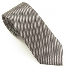 SILVER LONDON PLAIN SILK TIE