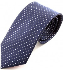 NAVY/WHITE PIN DOT