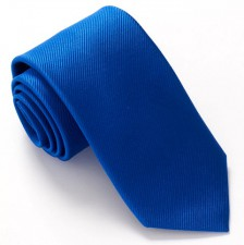 ROYAL BLUE RED LABEL PLAIN SILK TIE