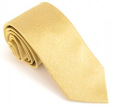 YELLOW SOHO PLAIN SILK TIE