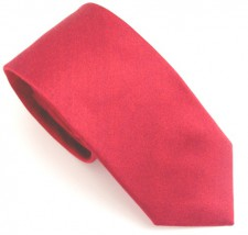 RED SOHO PLAIN SILK TIE