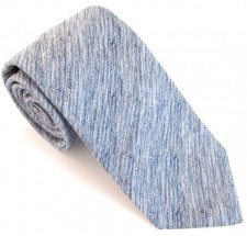 MID BLUE TWISTED SOHO SILK TIE