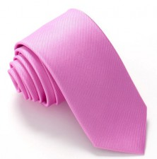LILAC PINK RED LABEL PLAIN SILK TIE