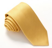 YELLOW RED LABEL PLAIN SILK TIE