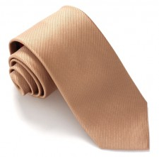 BEIGE RED LABEL PLAIN SILK TIE