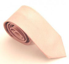BABY PINK RED LABEL PLAIN SILK TIE