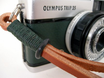 GWG Gordy's Green Tan Premium Leather Wrist Strap