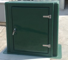 Green GRP Meter Housing