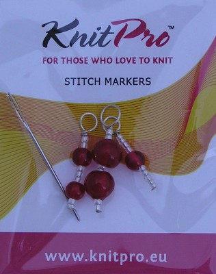Zooni Stitch Markers Ruby Red