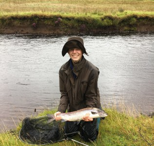 Emily Fraser - First ever salmon