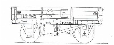 G.E.R./L.N.E.R./B.R. 3-plank Dropsided Open Wagon. Diag. 18