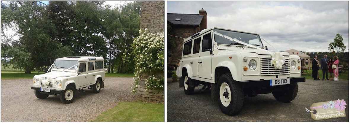 Wedding Land Rover