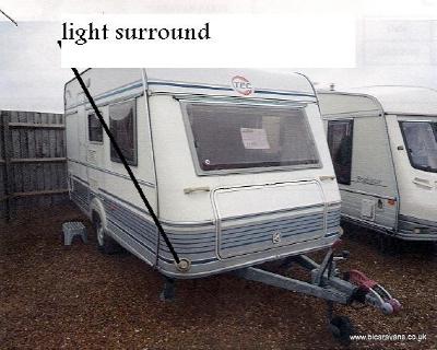 Lmc Front Light Plastic Surround Left Or Right | Lmc/Laika Caravan