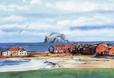North Berwick Town and Bass Rock