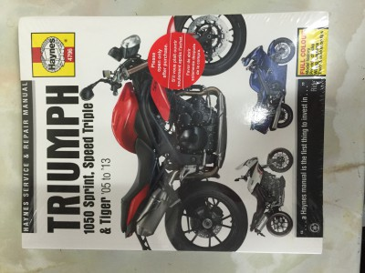 Haynes Repair Manual, 1050 SprintST, Speed Triple & Tiger Repair Manual